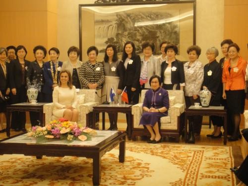 **30th Oct. 2012 : TWEA attended the Speech by the First Lady of El Salvador-Vanda Pignato hosted by the National Women's League of the R.O.C. 2012-10-30中華婦女聯合會舉辦薩爾瓦多總理夫人